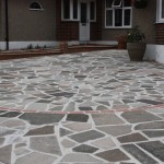 Crazy paving with red border